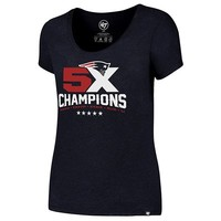 Ladies 5X Champs Club Tee-Navy