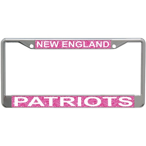 Pink Glitter License Plate Frame - Patriots ProShop