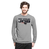 Forward Do Your Job Long Sleeve Tee-Gray