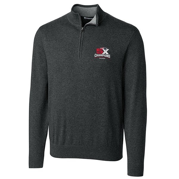 5X Champs Cutter & Buck Lakemont 1/2 Zip Top