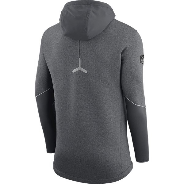 san francisco d48a5 7fffe Nike Super Bowl LI Media Day Zip Jacket-Gray - Patriots ProShop