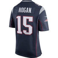 Nike Chris Hogan #15 Game Jersey-Navy