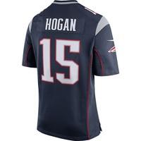Nike Chris Hogan #15 Game Jersey-Navy