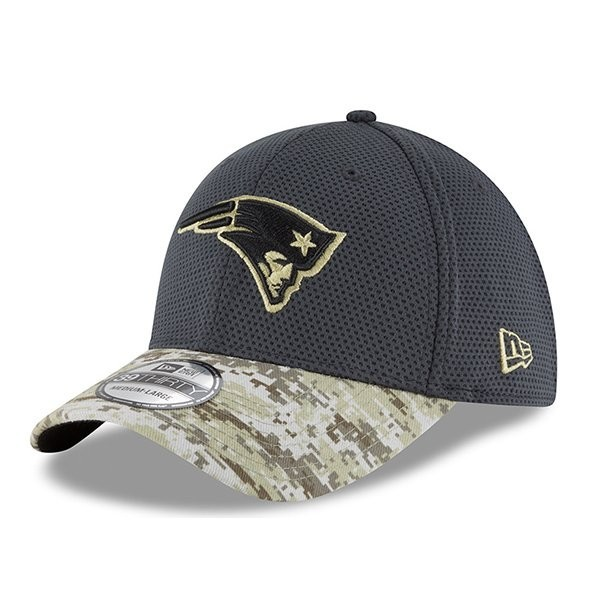 c0dd79b7315e7b Salute To Service 39Thirty Flex Cap-Charcoal/Camo - Patriots ProShop
