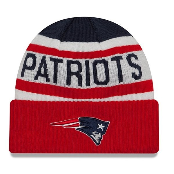 New Era Biggest Fan Knit-Navy Red - Patriots ProShop dd4c7ef8a