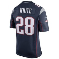 Nike James White #28 Game Jersey-Navy