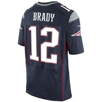 Nike Elite Tom Brady #12 Jersey-Navy