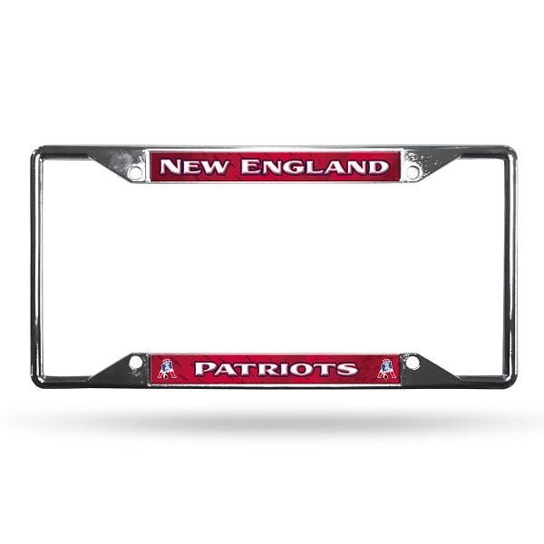 Throwback Chrome License Plate Frame - Patriots ProShop ebc4bff199a7