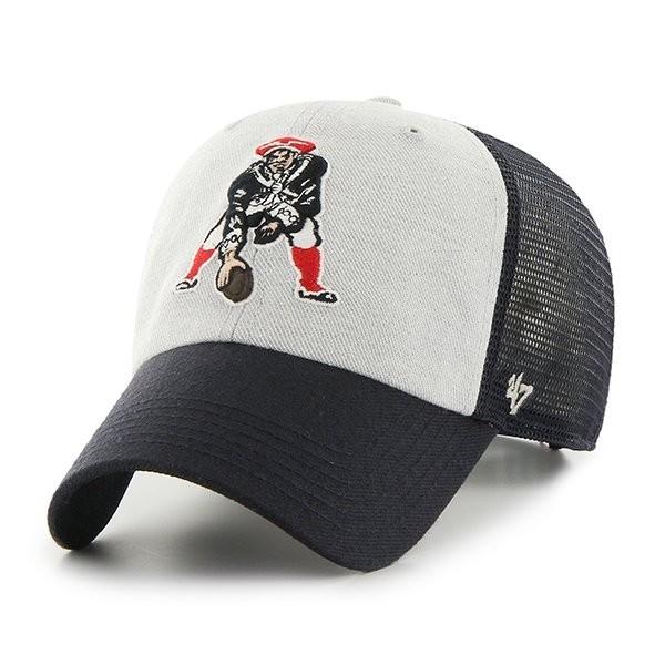 47 Brand Throwback Belmont Mesh Cap Navy Gray - Patriots ProShop 319367920fe