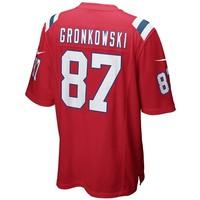 Nike Rob Gronkowski #87 Throwback Game Jersey-Red