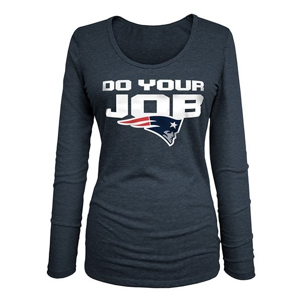 2cb17976f69 Ladies Do Your Job Long Sleeve Tee-Navy - Patriots ProShop