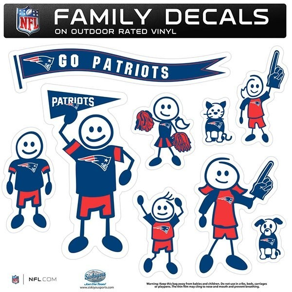 Patriots Large Family Car Decal Set