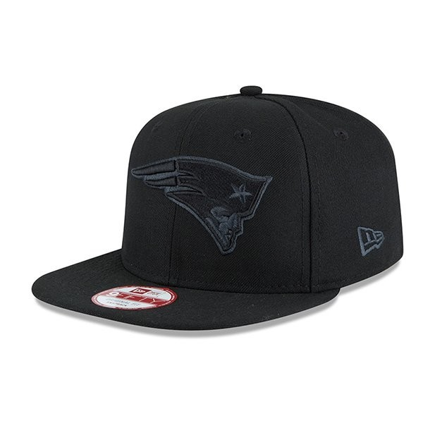 New Era 9Fifty Graphite Snap Back Cap-Black - Patriots ProShop 0b91131a1f30