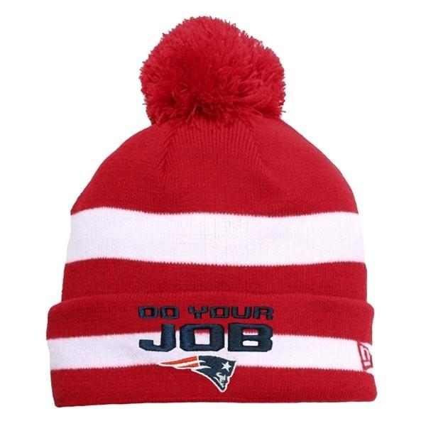 33741f9287c New Era DoYourJob Knit Hat-Red White - Patriots ProShop