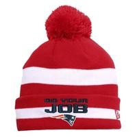 New Era DoYourJob Knit Hat-Red/White