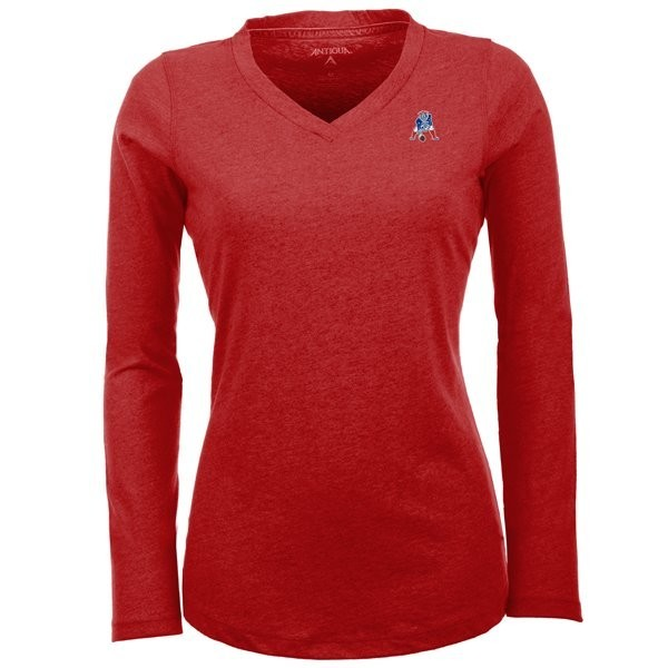 Ladies Throwback Flip Long Sleeve Tee-Red