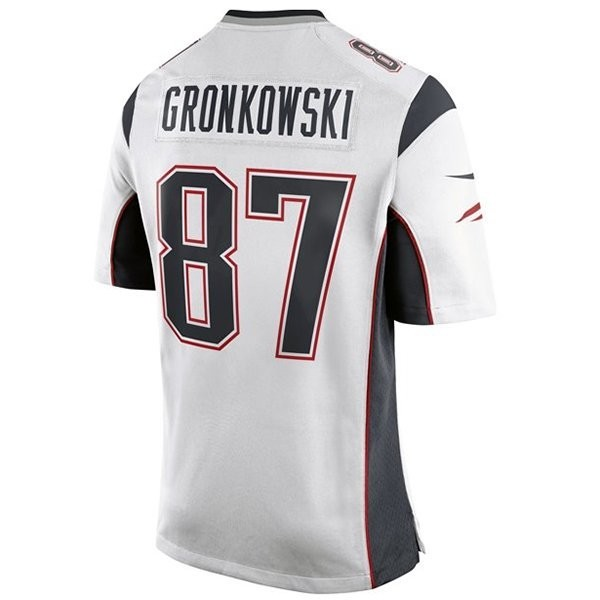 new arrival 23a2f 9ec60 Nike Rob Gronkowski #87 Game Jersey-White