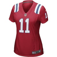 Ladies Nike Julian Edelman Throwback Game Jersey-Red
