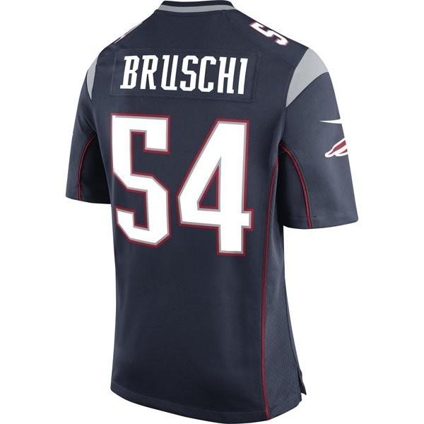 low priced edde4 bce54 Nike Tedy Bruschi #54 Game Jersey-Navy