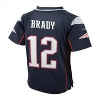 Preschool Nike Tom Brady Game Jersey-Navy