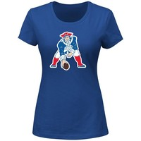 Ladies Majestic Throwback Logo Tee-Royal