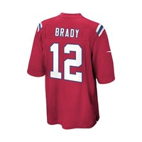 Preschool Nike Tom Brady Throwback Jersey-Red