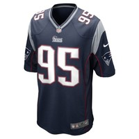 2014 Youth Nike Chandler Jones Game Jersey-Navy