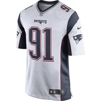 Nike Jamie Collins #91 Game Jersey-White