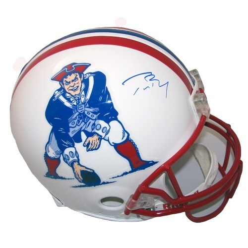 Tom Brady Signed Authentic Throwback Helmet