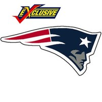 Patriots 12inch logo magnet