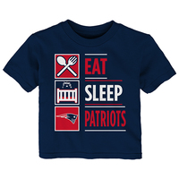 Infant Eat/Sleep Patriots Tee-Navy