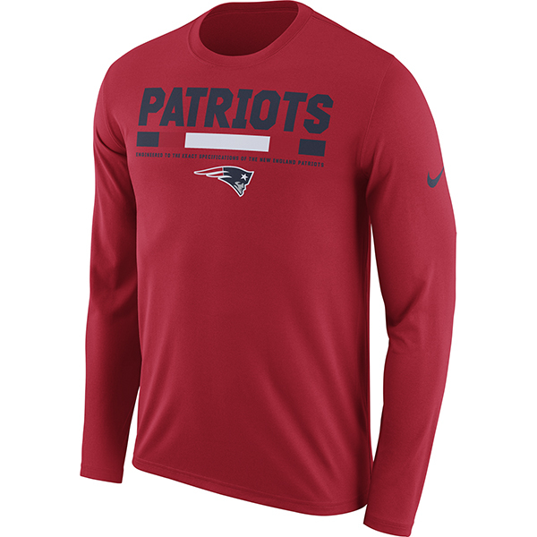 e7f7b1d9144 Nike 2017 Legend Staff Long Sleeve Tee-Red - Patriots ProShop