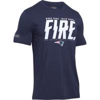 NFL Combine Fire Tee-Navy