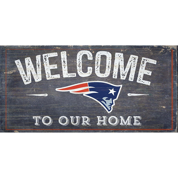Welcome To Our Home Sign Patriots Proshop