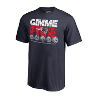 Youth Fanatics Gimme Five Rings Tee-Navy