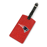 Logo Sparkle Luggage Tag-Red
