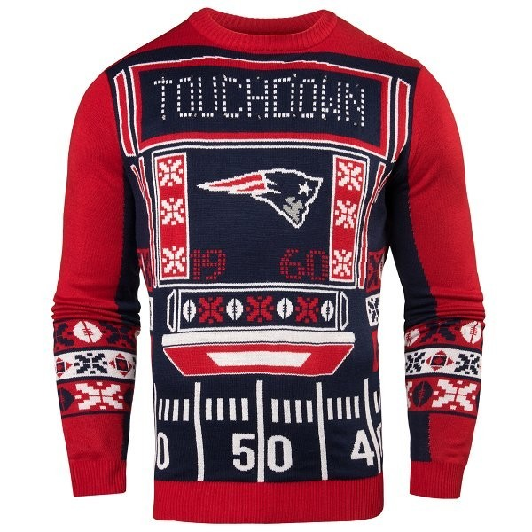 buy popular d6a04 eeff4 Patriots Light Up Ugly Sweater