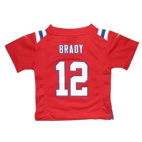 Infant nike tom brady throwback jersey red