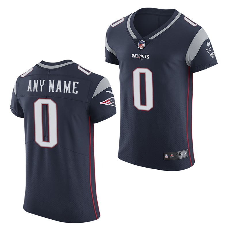 Nike Elite Customized Jerseys-Navy