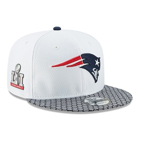 New Era Super Bowl 51 Media Day 9Fifty Snap Cap-White - Patriots ProShop 8bf76d254