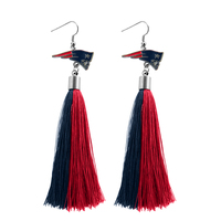 Team Tassel Earrings-Navy/Red