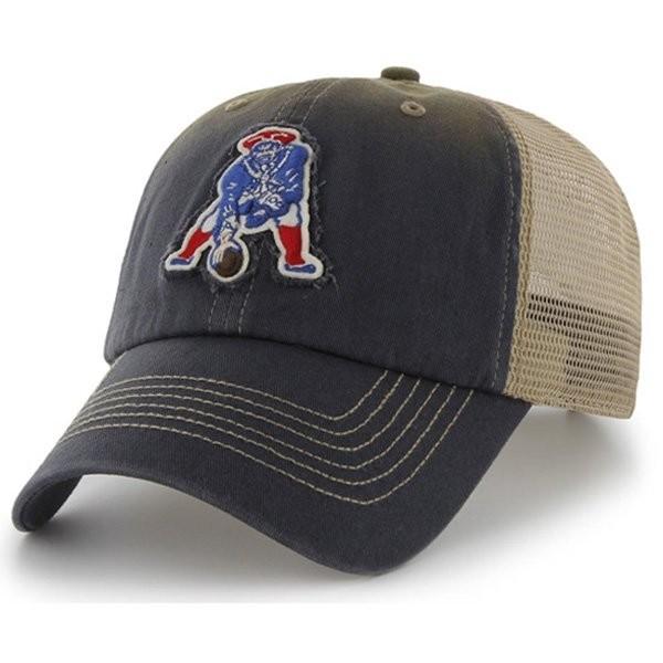 b724dad1d Throwback '47 Mongoose Navy Snap Back Mesh Cap - Patriots ProShop