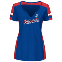 Ladies Majestic Throwback Pride Play Top-Royal
