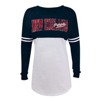 Junior Ladies Yoke long Sleeve Top-Navy