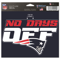 No Days Off 5x6 Sticker