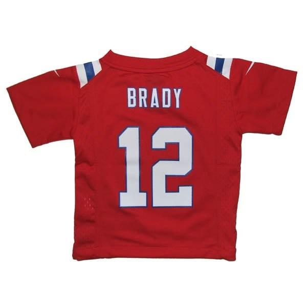 promo code 1c3d7 724de Toddler Nike Tom Brady Throwback Jersey-Red