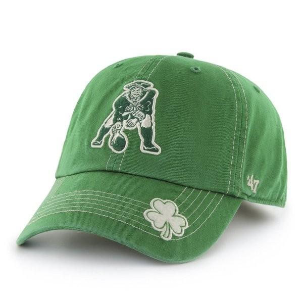Throwback  47 St Patty Fatty Cap-Green - Patriots ProShop 076156c827f