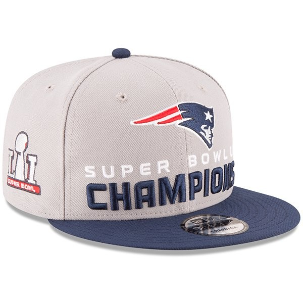 98096683fe6 SB51 Champs New Era Snapback Cap Gray - Patriots ProShop