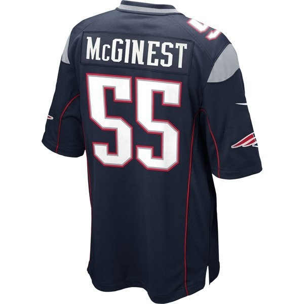 finest selection efb19 537ce Nike Willie McGinest #55 Game Jersey-Navy