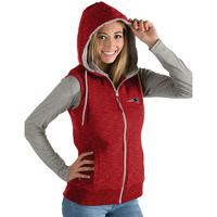 Ladies Antigua Blitz Full Zip Vest-Red